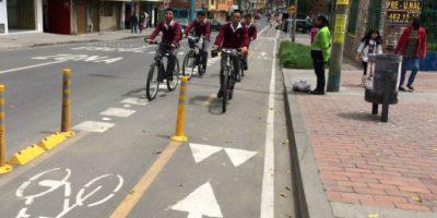 Esta ciclorruta en el sector de Tunjuelo es un ejemplo de las que se construyen en toda Bogotá Foto:Tomada de Bogota.gov.co