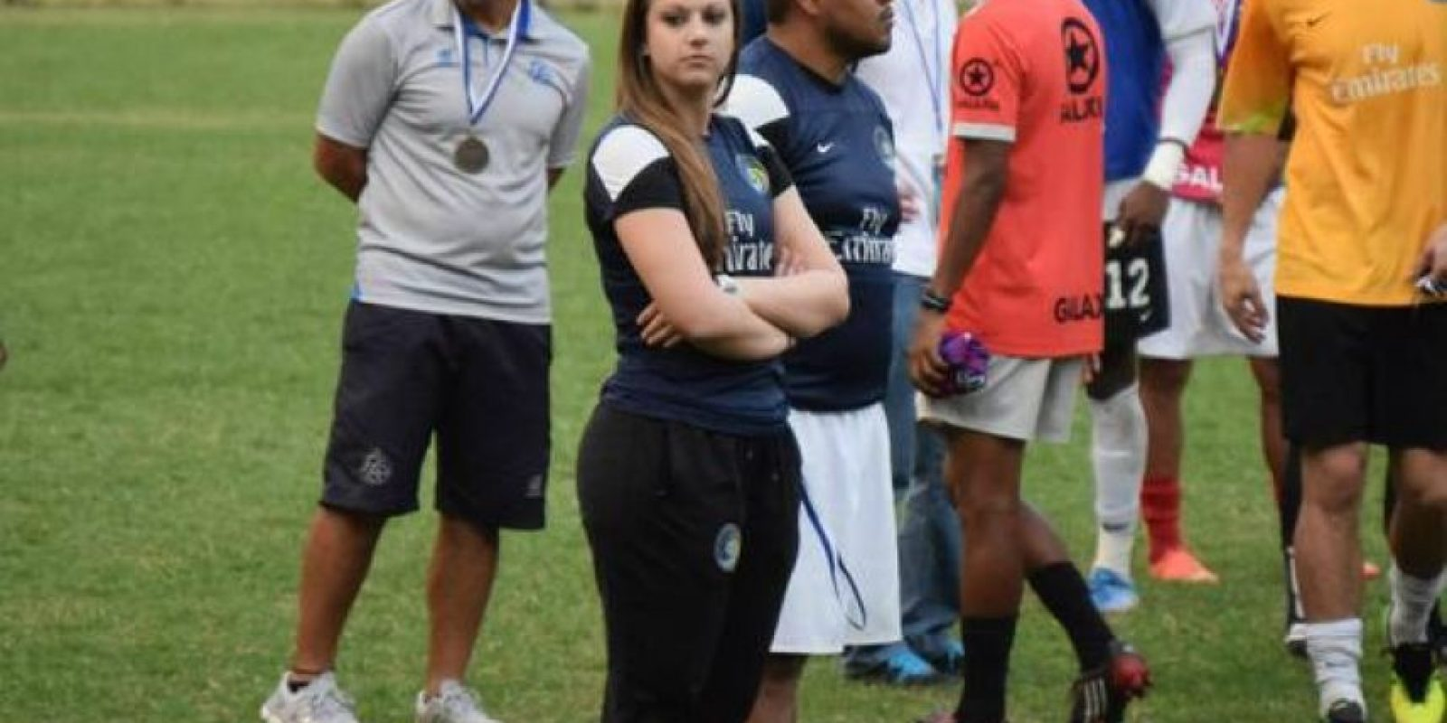 Es la preparadora física del New York Cosmos de la NASL (North American Soccer League), equipo donde juega Raúl González. Foto:Vía twitter.com