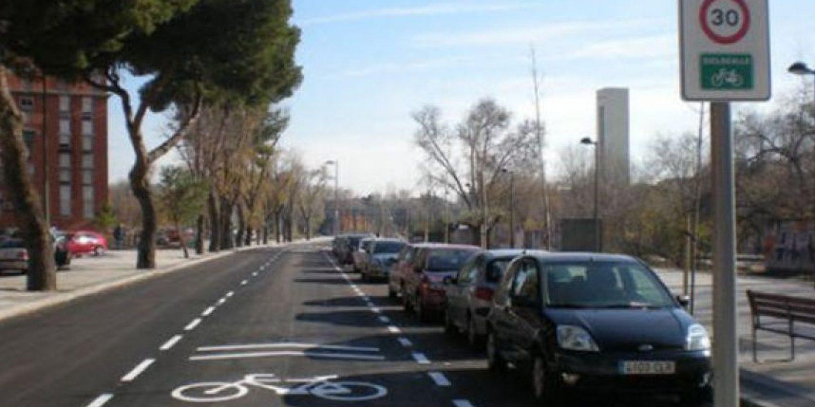 """Así son los """"carriles bici"""" de Madrid Foto:Tomada de eldiario.es"""