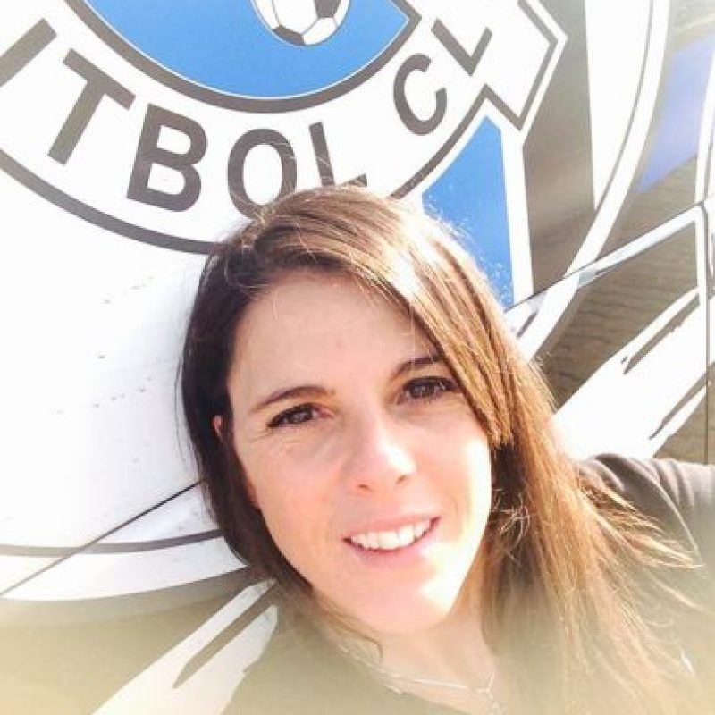 4. Inés Massaccessi, kinesióloga de Gallos Blancos de Querétaro (México). Foto:Vía twitter.com/ines9massaccesi