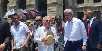 Como guía tuvo al historiador cubano Eusebio Leal. Foto:AFP