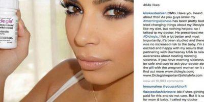 Pero la FDA acusó a Kim Kardashian de no publicar los efectos secundarios del medicamento como la somnolencia o su peligro al combinarse con alcohol. Foto:vía instagram.com/kimkardashian