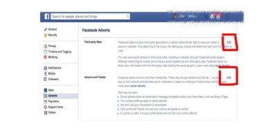 """En las dos opciones que aparecerán, seleccionen """"Edit"""" en ambas Foto:Facebook"""