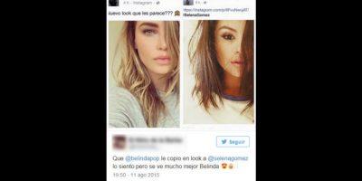 Pero sus fans la compararon con Selena Gómez, que también cambió de look y lo presumió en un selfie Foto:vía twitter