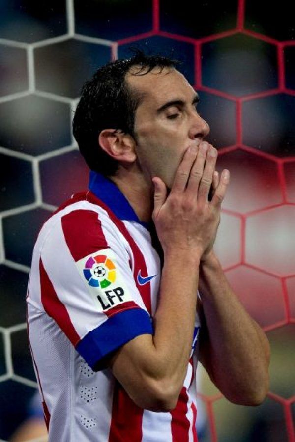 """El uruguayo, referente de la defensa """"colchonera"""", se ha convertido en uno de los mejores latinoamericanos de España. Foto:Getty Images"""