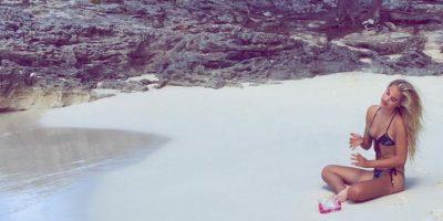 La modelo estadounidense intercambió mensajes privados con Cristiano Foto:Via instagram.com/meredithmickelson