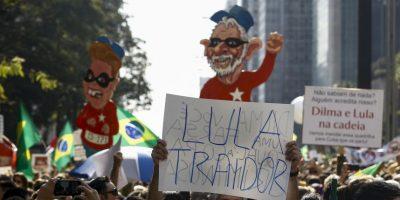 En Brasilia se reunieron 25 mil pesonas Foto:AFP