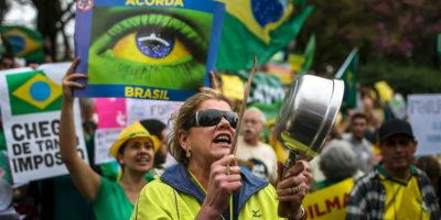 3. Las protestas se llevaron a cabo en ciudades como Sao Paulo, Río de Janeiro, Recife y Brasilia. Foto:AFP