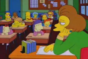 La educación en Springfield parece no ser la mejor.