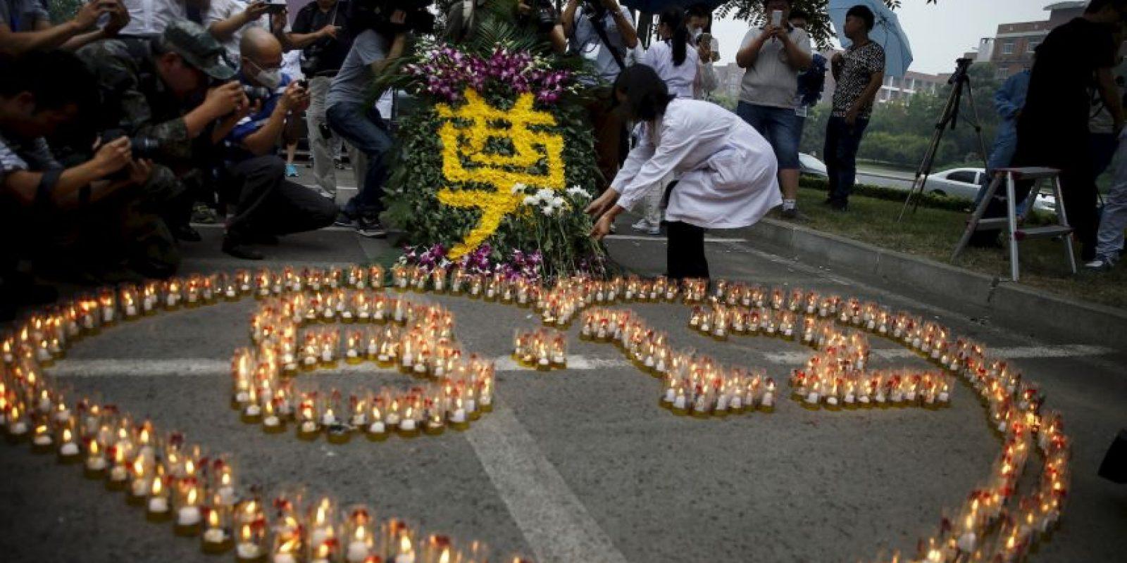Así se recuerdan a las víctimas de la tragedia Foto:AFP