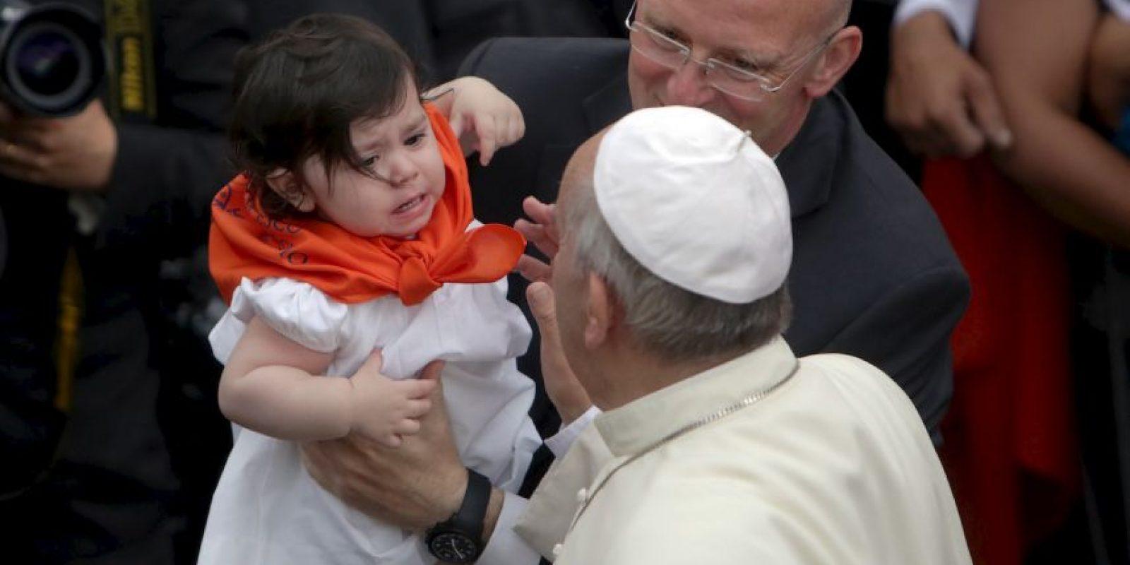 """""""Sucedió solo. El mérito es de ellos, que hicieron esto. Nosotros no hicimos casi nada, solo pequeñas cosas. Y a mediados de diciembre fue anunciado. Esta es la historia. En serio, no hay más"""", manifestó el Papa Francisco. Foto:Getty Images"""