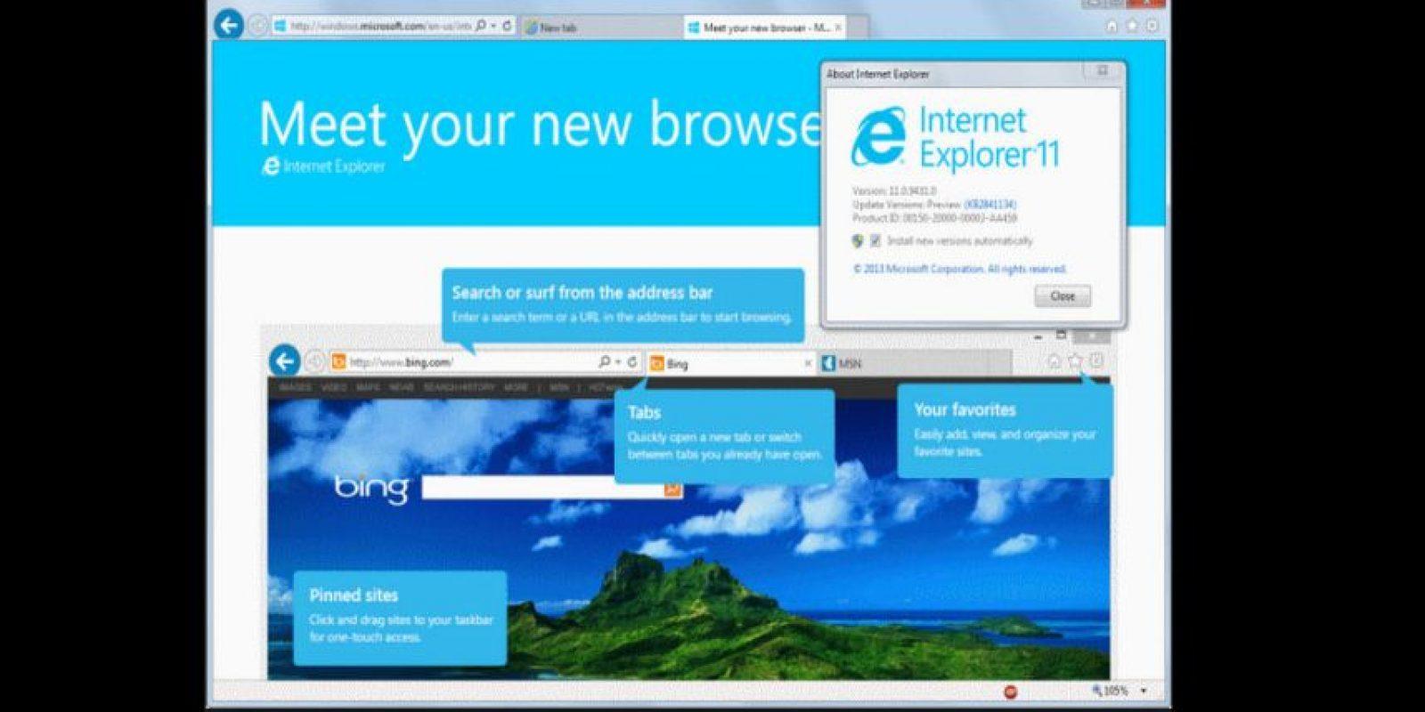 Internet Explorer 11.0 (2013) Foto:Microsoft