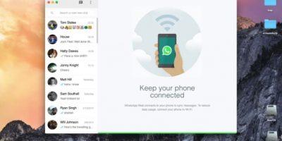 """Así lucia un el prototipo de cliente web no oficial para Mac """"WhatsMac"""" Foto:WhatsMac"""