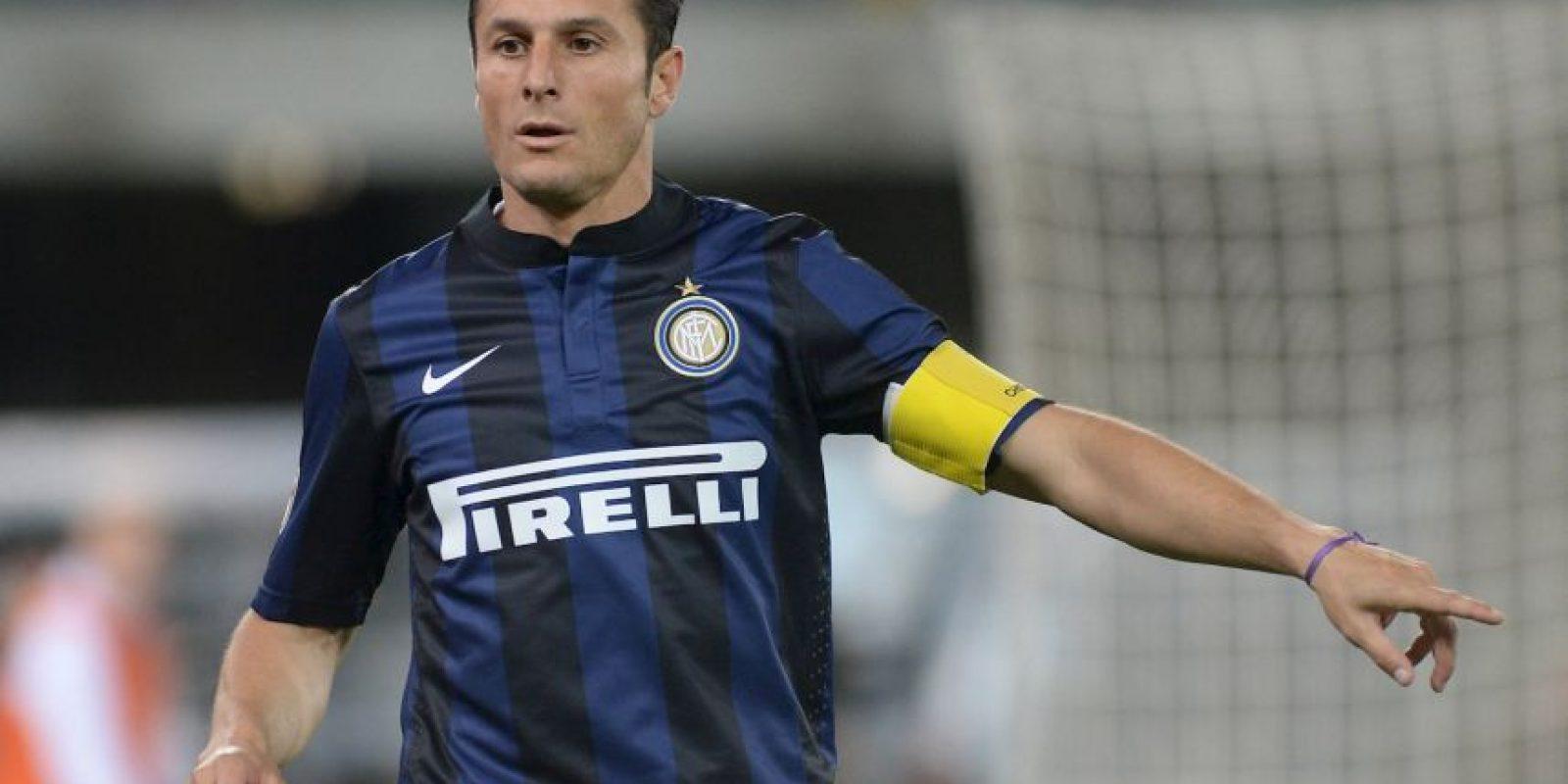 5. Javier Zanetti Foto:Getty Images