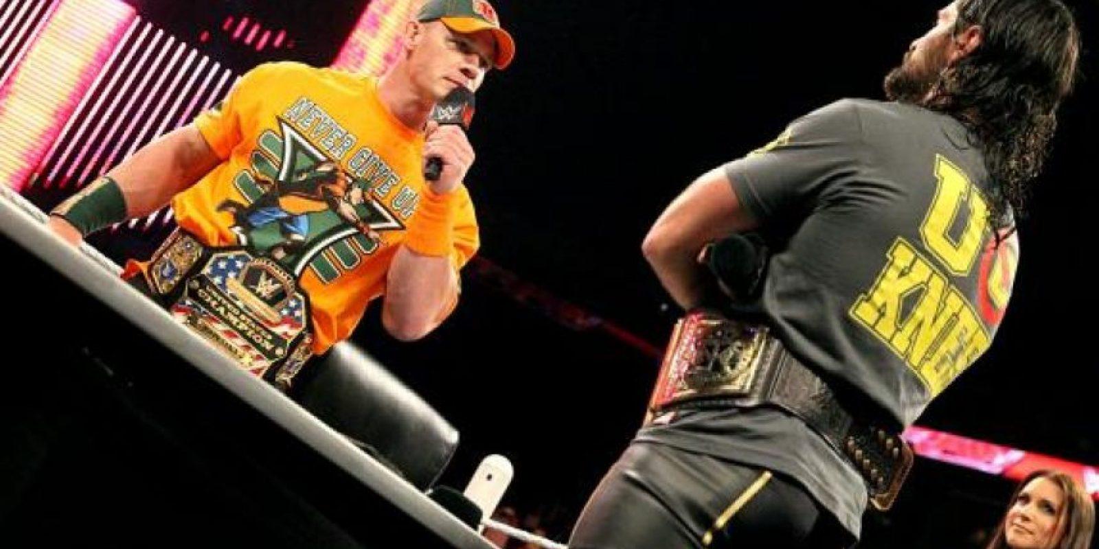 Seth Rollins, campeón Mundial de Peso Pesado, se enfrentará con John Cena, monarca de Estados Unidos Foto:WWE