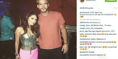 Dulce María y Liam Hemsworth Foto:Instagram/DulceMaria