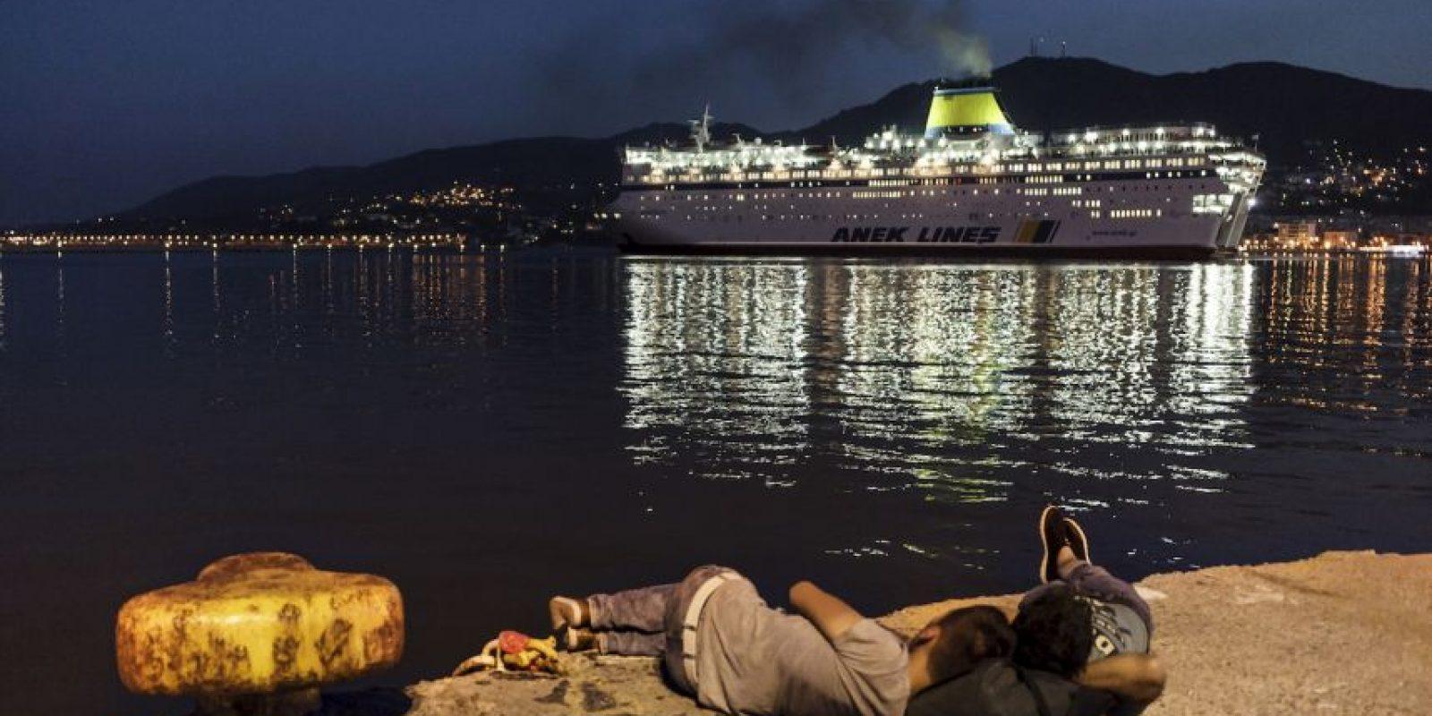 Migrantes en Grecia Foto:AFP