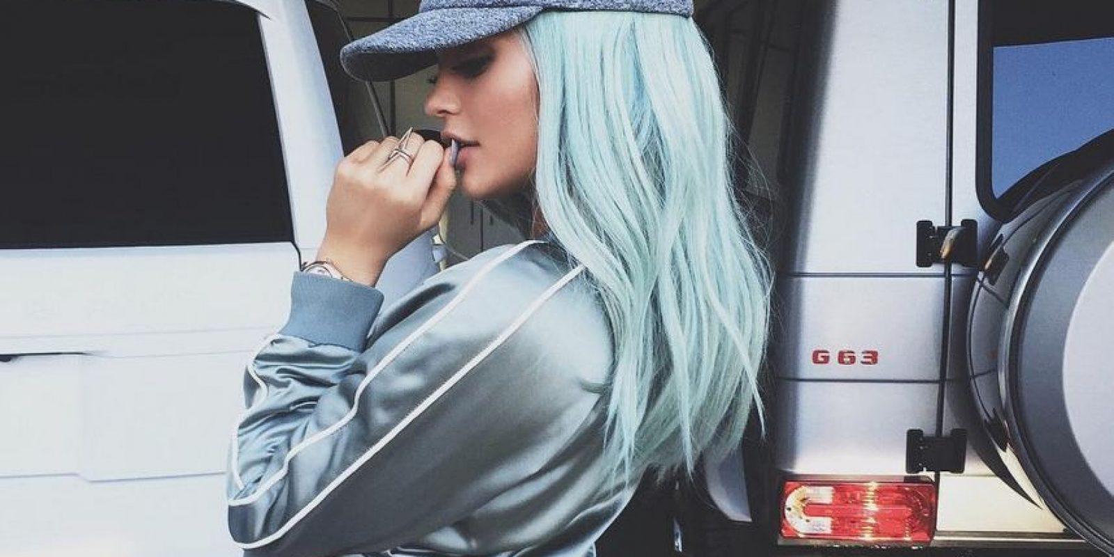 Kylie también ha experimentado con otros tonos de cabello Foto:Vía instagram.com/kyliejenner/