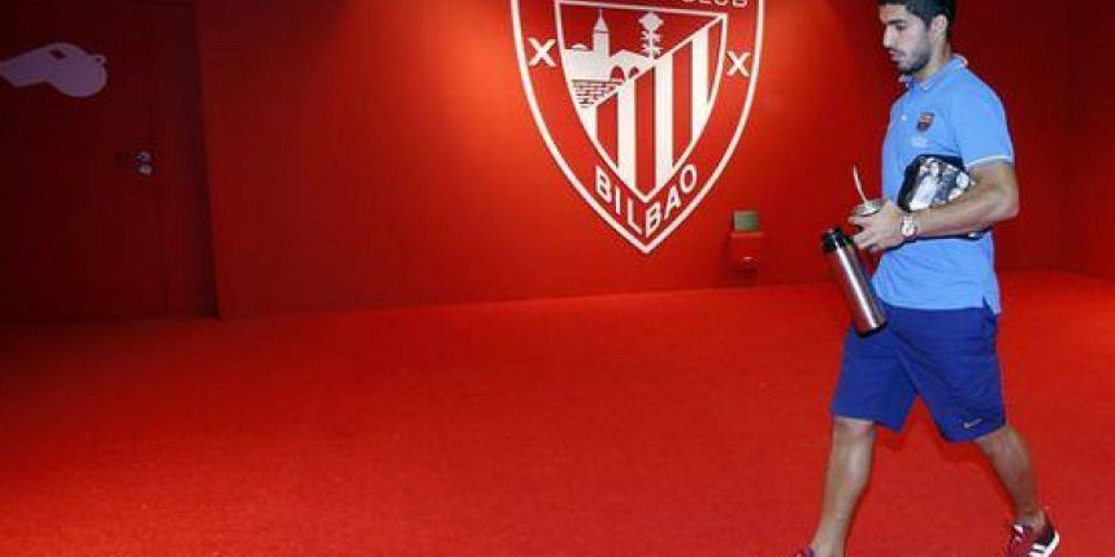 En el primer tiempo, le cometieron un penal a Luis Suárez. Foto:Vía twitter.com/fcbarcelona