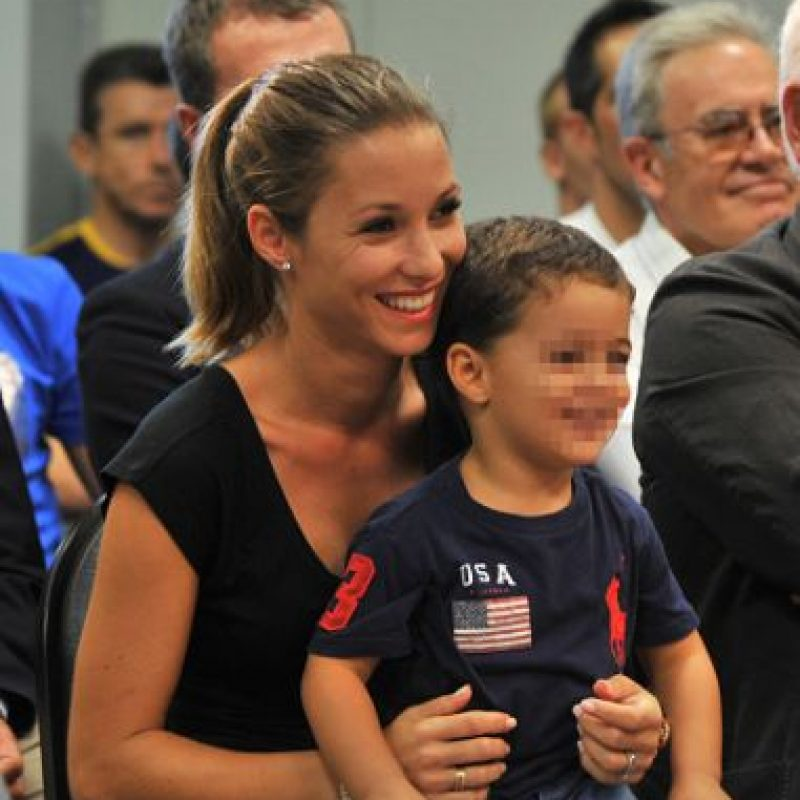 Ella fue la encargada de cuidar a su hijo, Bryan y a Thiago Messi. Foto:Getty Images
