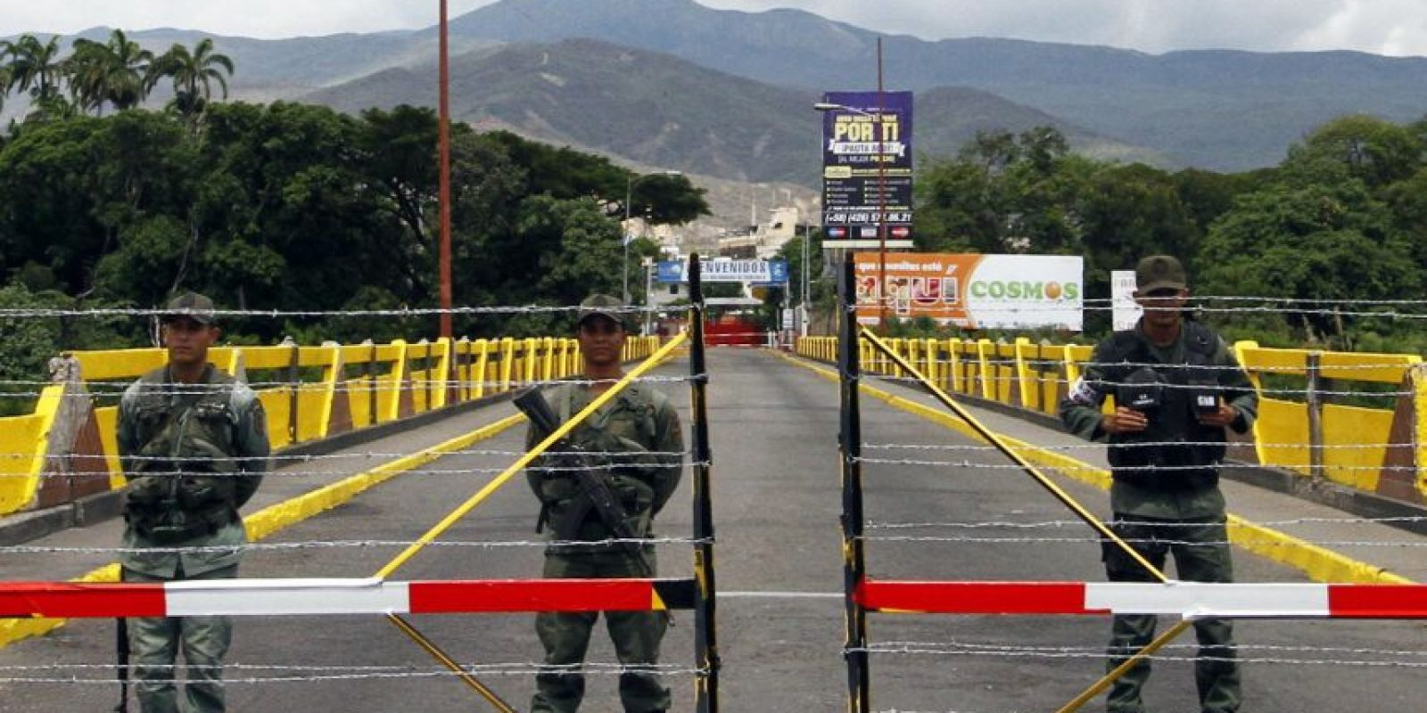 La frontera entre Colombia y Venezuela permanece cerrada desde el pasado jueves. Foto:EFE