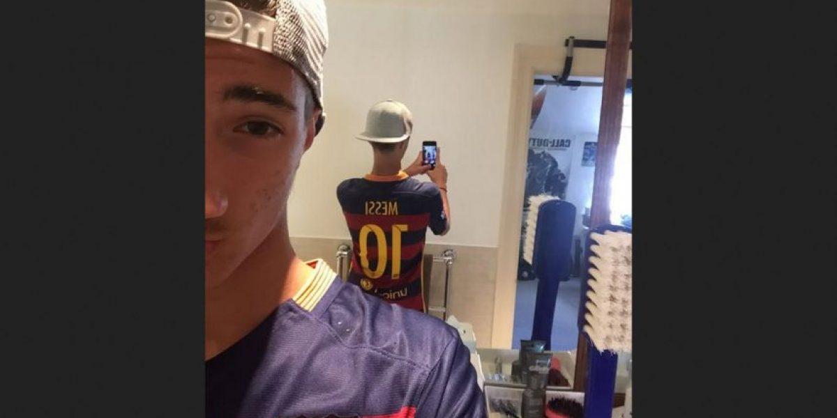 Fotos: Hijo de Mourinho es hincha de Barcelona y fan de Messi