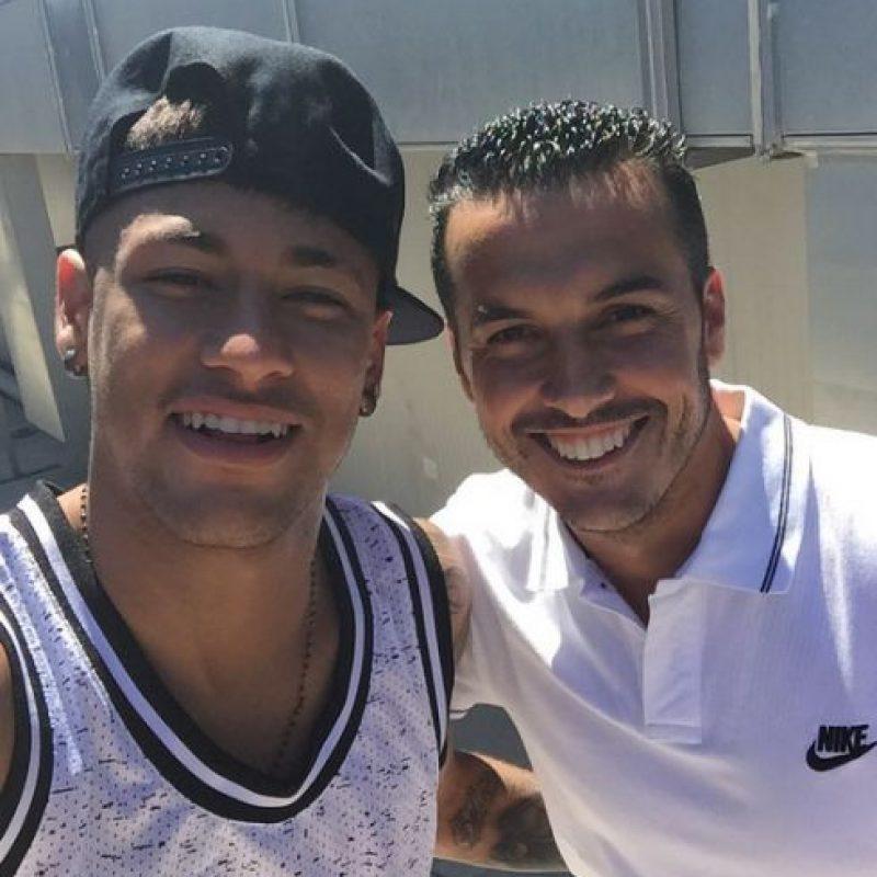 Neymar le dedicó una foto al delantero en su Instagram. Foto:Vía instagram.com/neymarjr