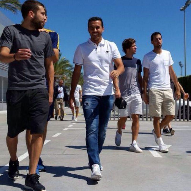 Pedro Rodríguez se despidió de sus excompañeros del Barcelona. Foto:Vía instagram.com/fcbarcelona