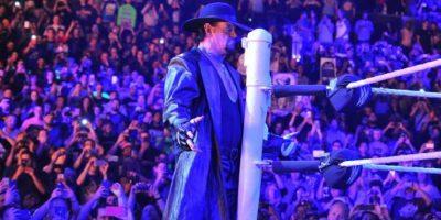 Undertaker venció a Brock Lesnar en Summerslam 2015, la función de verano de la WWE. Foto:WWE