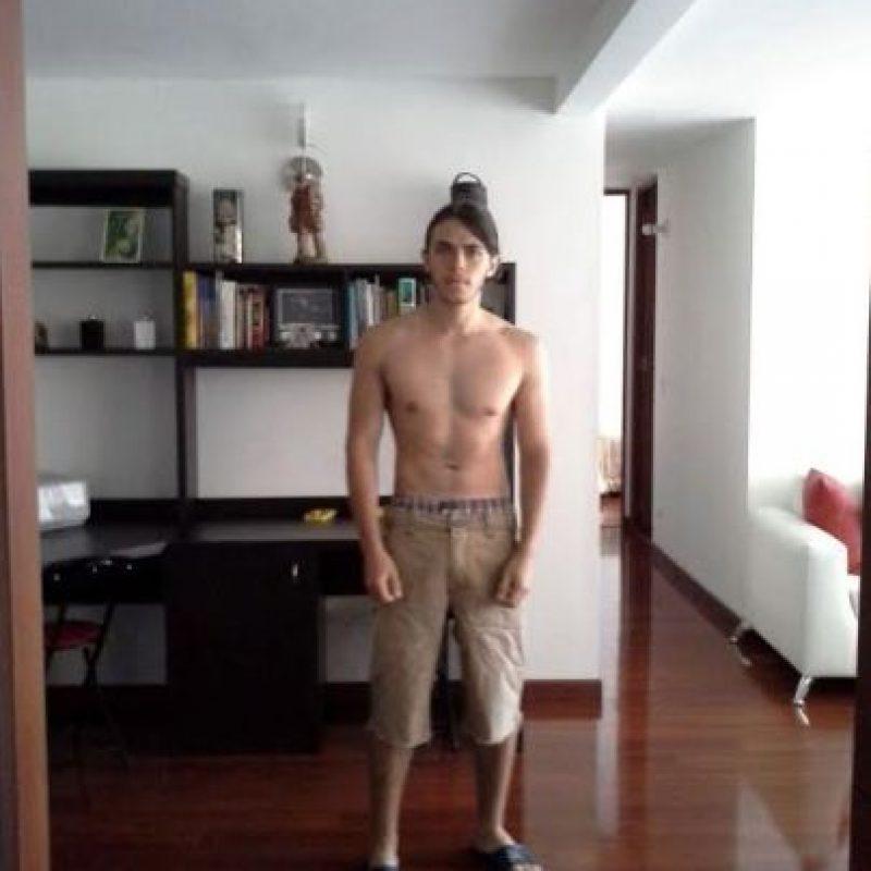 Así se veía cuando bajó esos 20 kilos en seis meses Foto:cortesía