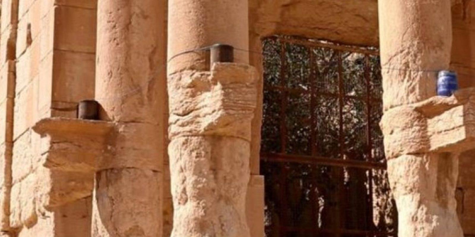 Los acomodaron alrededor del templo Foto:Estado Islámico