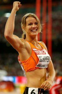 Ella corre los 100 y 200 metros y los 4X100 metros Foto:Getty Images
