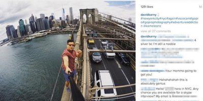 Después, lo publicó en su cuenta de Instagram. La imagen fue eliminada Foto:instagram.com/davidkarny