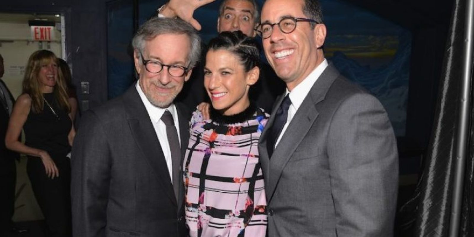 George Clooney, Steven Spielberg, Jessica Seinfeld y Jerry Seinfeld Foto:Getty Images