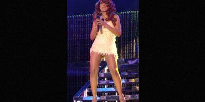 El trasero de Toni Braxton quedó al descubierto durante un show en Nueva Jersey. Foto:Getty Images