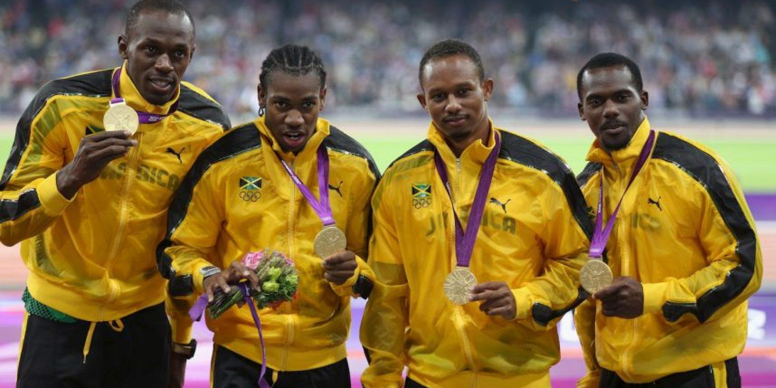 Medalla de Oro en Londres 2012 en relevos 4×100 metros. Foto:Getty Images