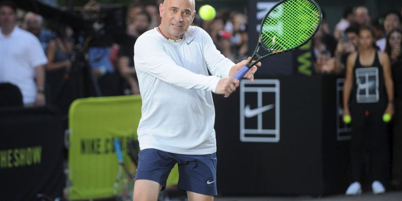 Y André Agassi, quien ganó 8 torneos de Grand Slam. Foto: Getty Images