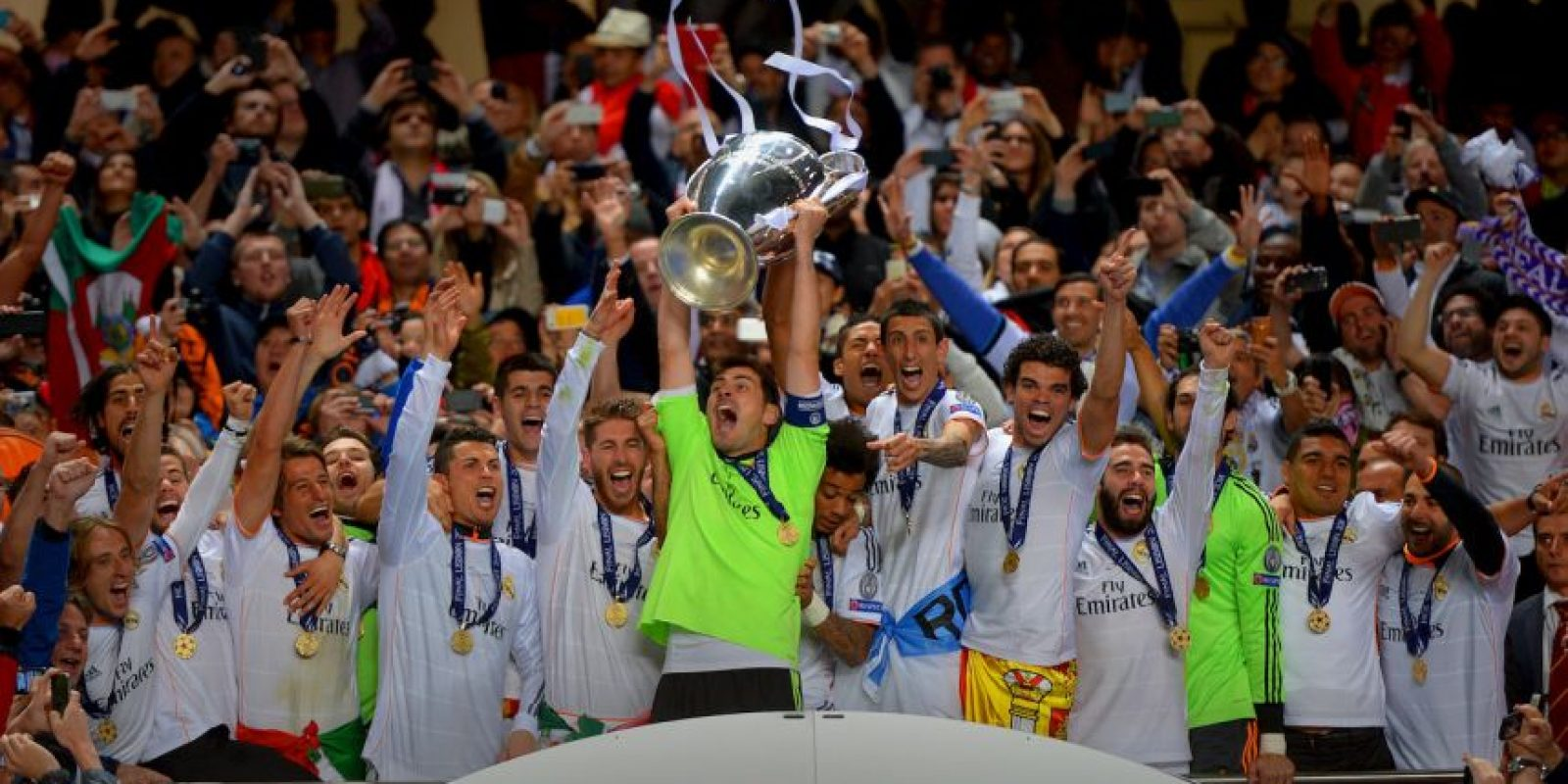 Tienen 10 Champions League: 1956, 1957, 1958, 1959, 1960, 1966, 1998, 2000, 2002, 2014. Foto: Getty Images