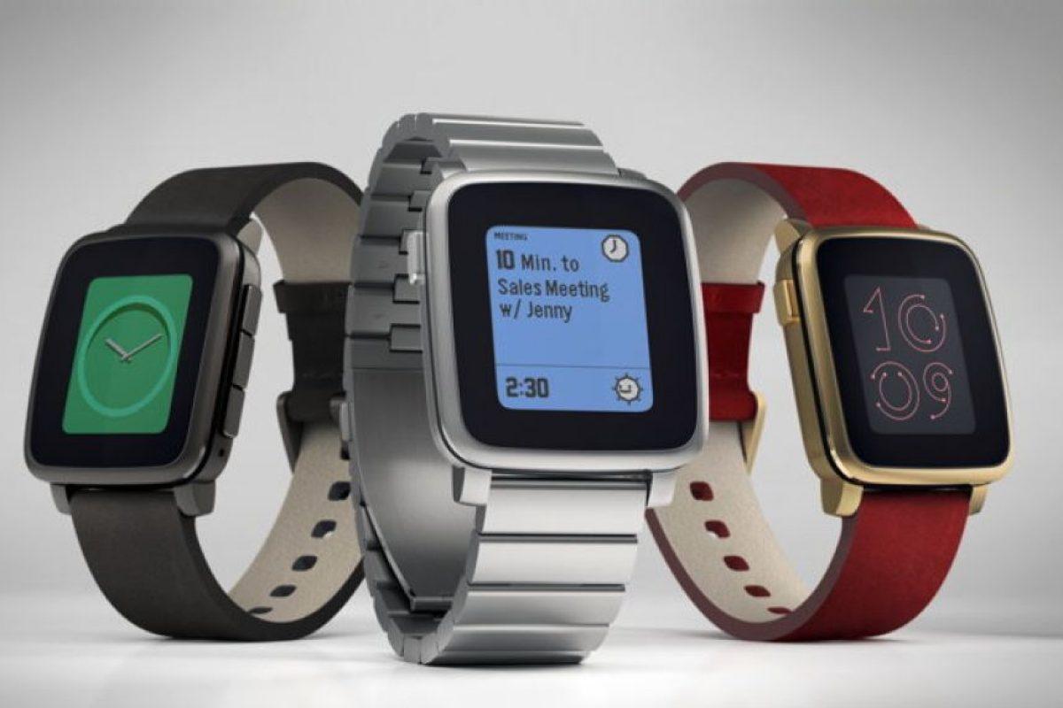"""Pebble, el """"smartwatch"""" más barato del mercado Foto:Pebble"""