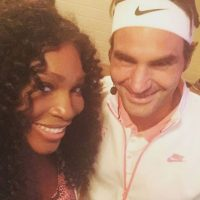 Y también con Roger Federer. Foto:Vía instagram.com/serenawilliams