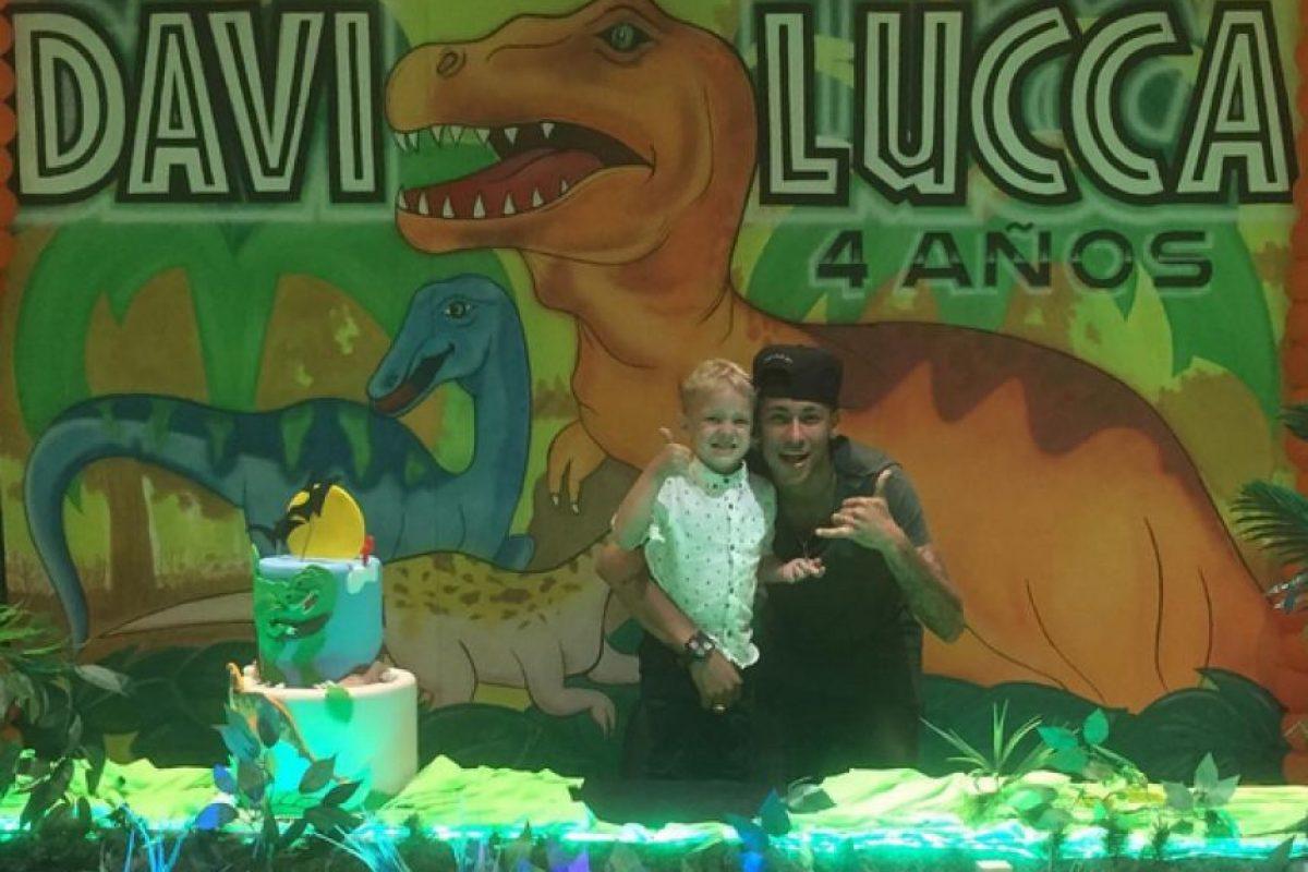 Davi Lucca, el hijo de Neymar, cumplió cuatro años este lunes. Foto:Vía instagram.com/neymarjr