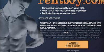 """Rentboy.com se cataloga como el """"sitio de acompañantes masculinos más grande del mundo"""". Foto:rentboy.com"""