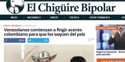 El Chigüire Bipolar, el Actualidad Panamericana de Venezuela Foto:Captura de pantalla elchiguirebipolar.net