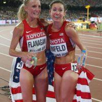 Pero bajó el ritmo y fue superada por Emily Infield. Foto:Getty Images