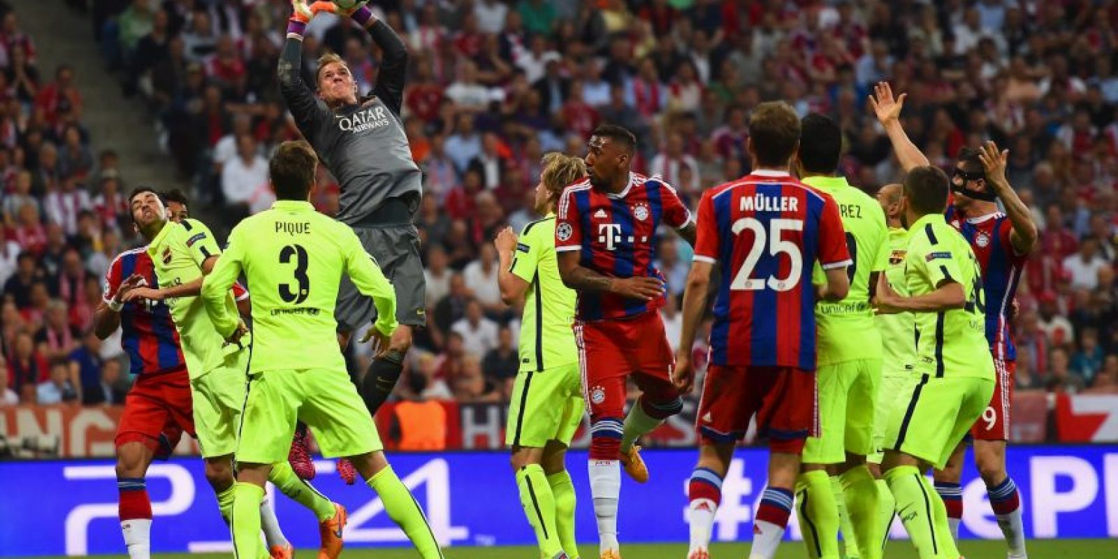 1. Ter Stegen (Barcelona) ante Bayern Munich. Foto: Getty Images