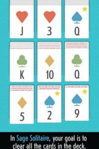 """Así luce Sage Solitaire, el juego para iPhone y iPad que cambia la forma de jugar """"Solitario"""" Foto:Zach Gage"""