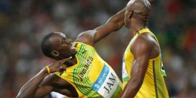 Medalla de Oro en Pekín 2008 en relevos 4×100 metros. Foto:Getty Images