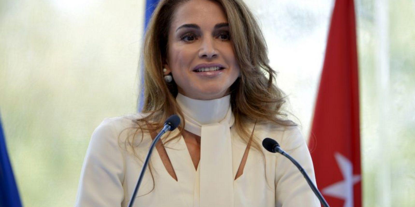 La reina Rania también pidió apoyo del extranjero. Foto:AFP