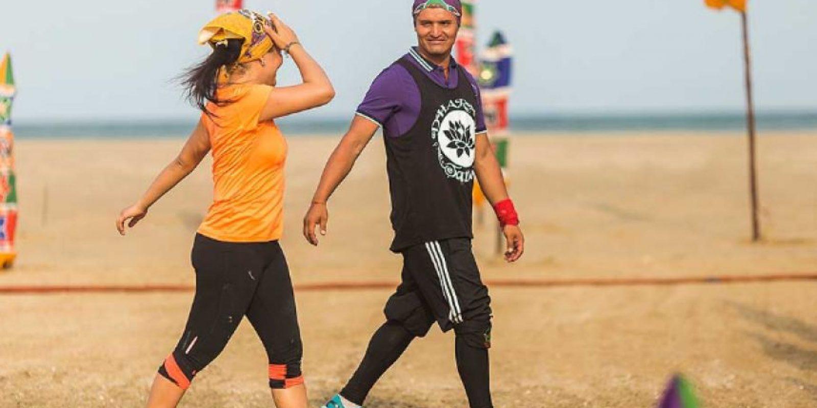 Hassam en el desafió India 2015 Foto:Caracol Televisión