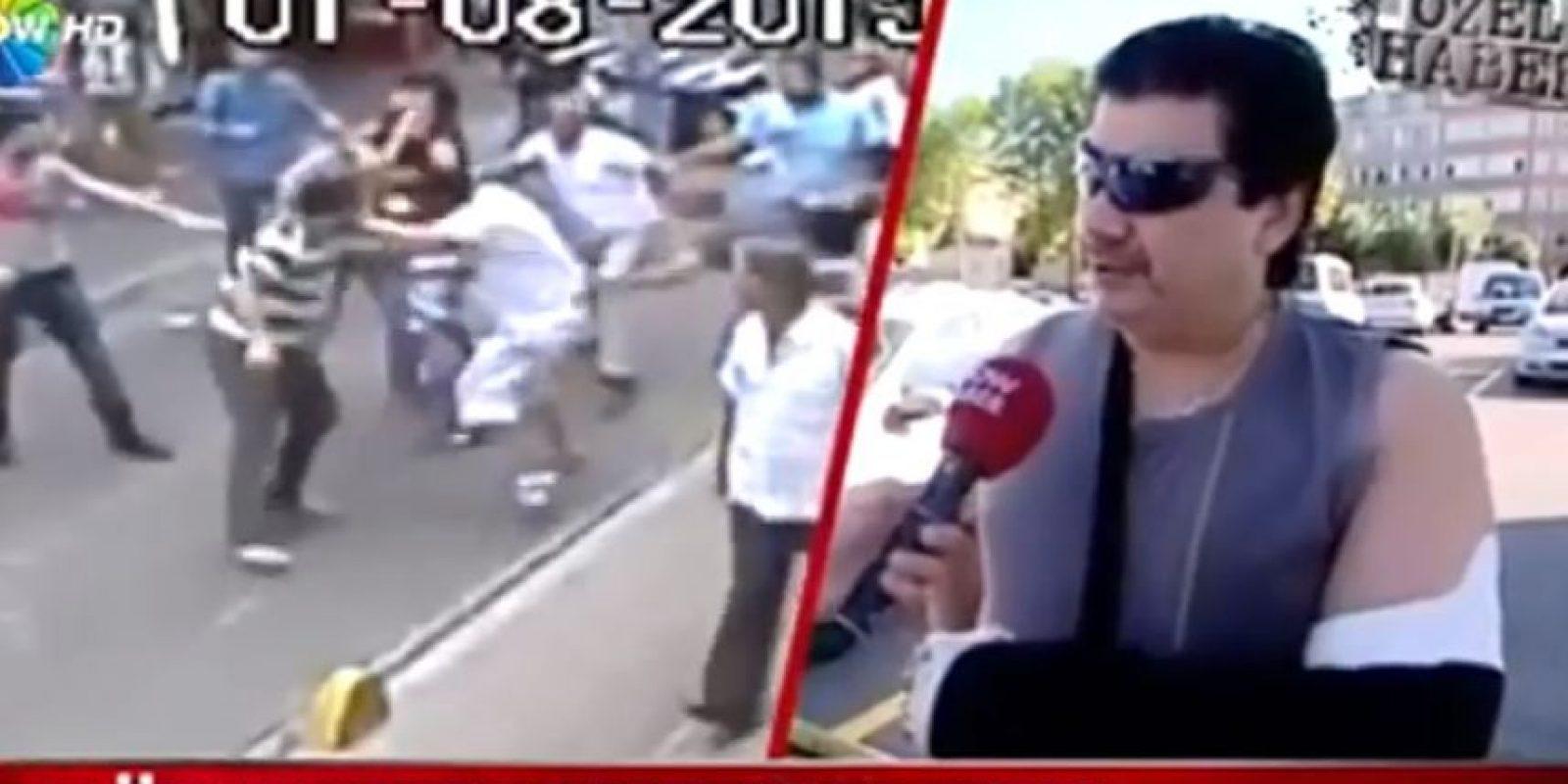 """Esto dijo el """"boxeador"""" que luchó contra una multitud en Turquía Foto:Youtube.com/F-L"""